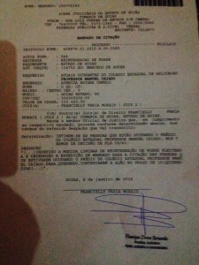 despacho juiza de Goiás